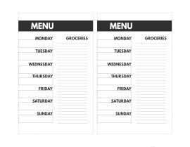Mini happy planner size Meal Plan printable from Monday to Sunday with a grocery list.