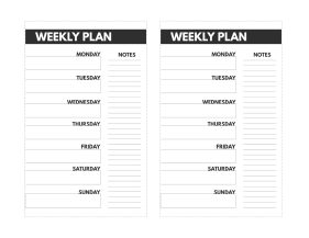 Mini size happy planner weekly planner with Monday through Sunday and a place for notes.