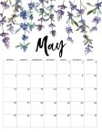 May 2020 Monday start floral page printable