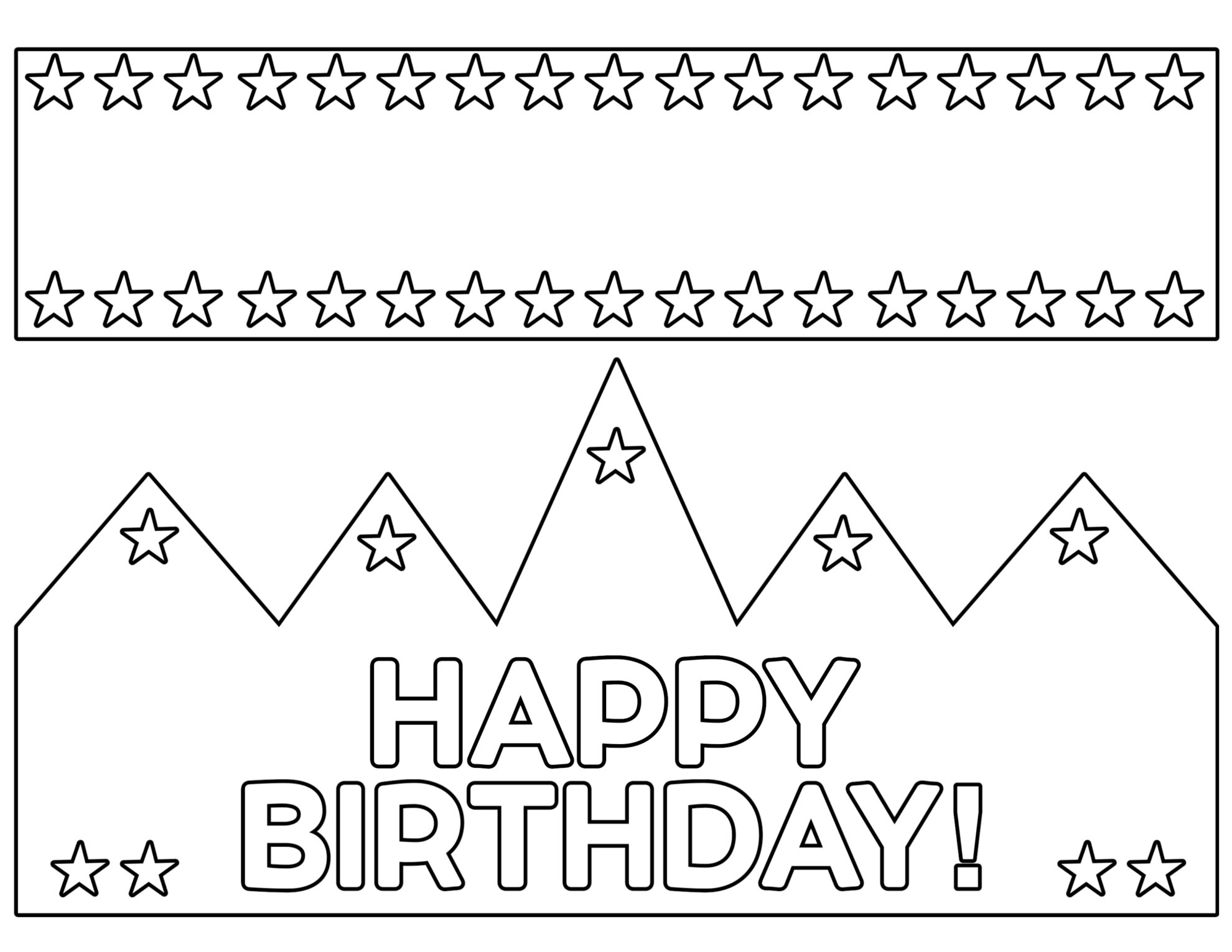 Free Printable Happy Birthday Crown