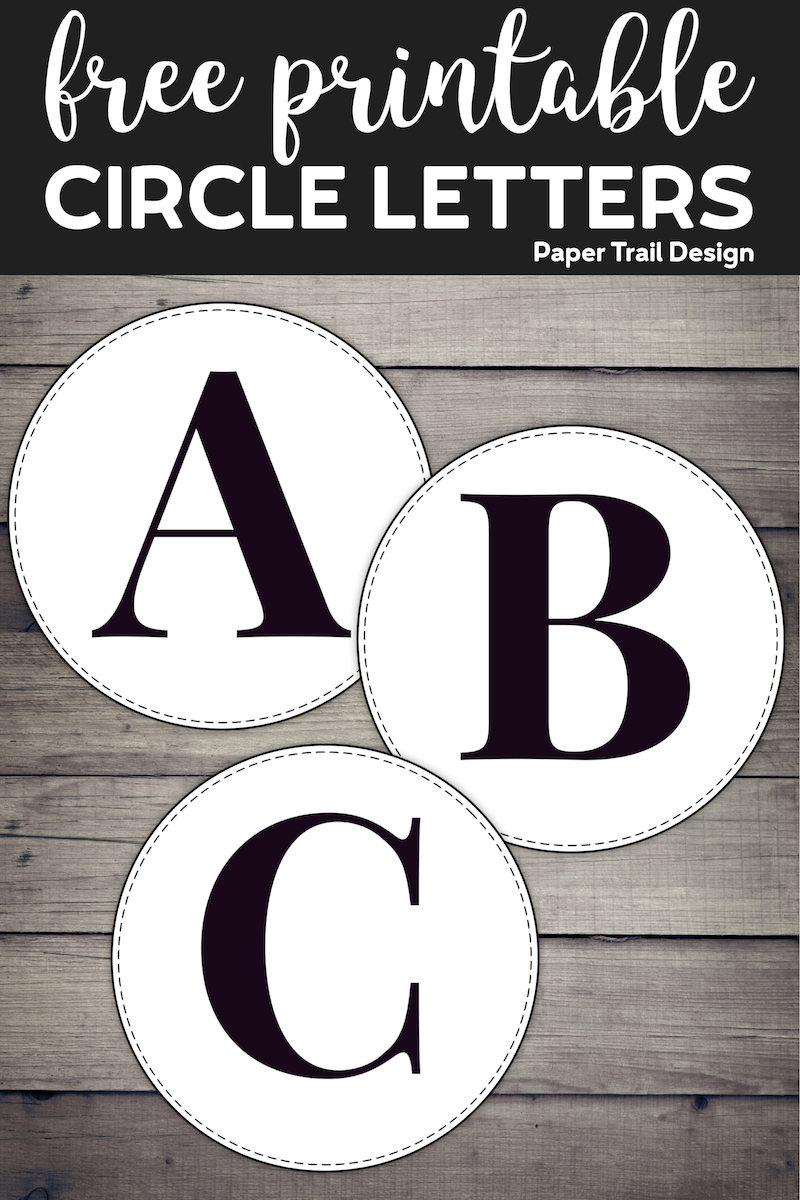 Free Printable Circle Banner Letters  Entire Alphabet