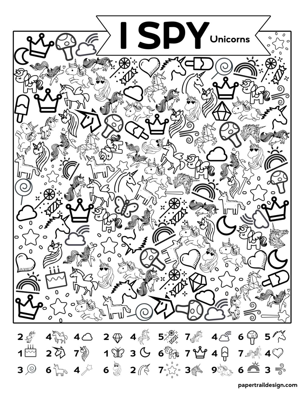 medium resolution of Unicorn Activities for Kids {FREE Printables