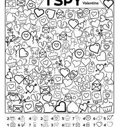 Free Printable Valentine I Spy Activity   Paper Trail Design [ 2562 x 1980 Pixel ]
