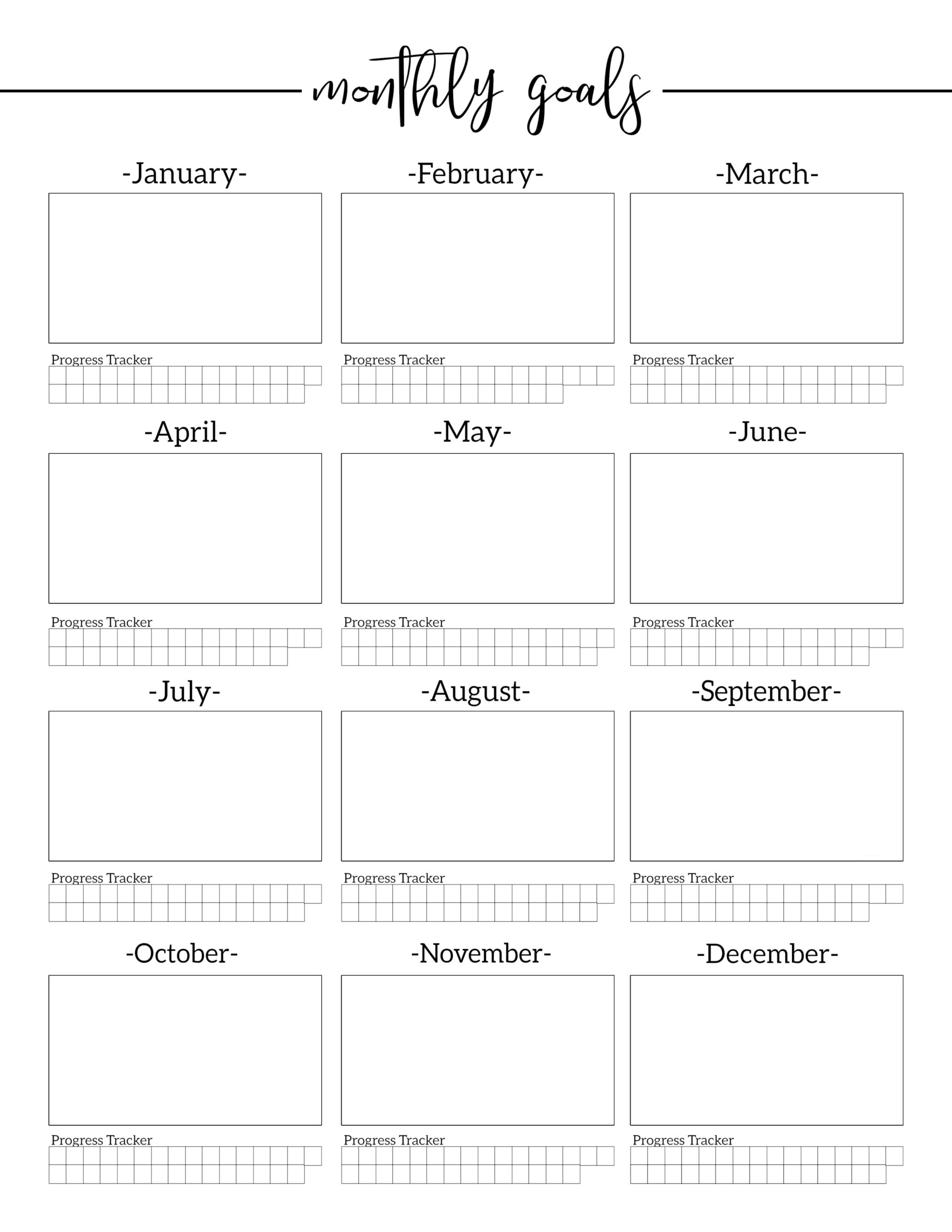 Health And Fitness Goals Worksheet