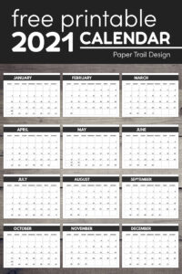 2021 calendar pages with text overlay- free printable 2021 calendar