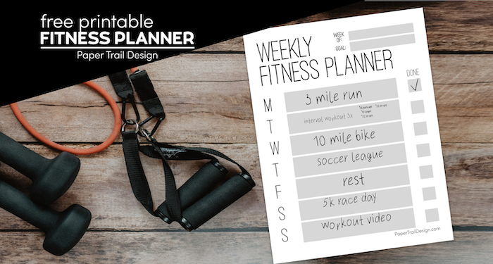 Weekly Fitness Planner Printable   Paper Trail Design