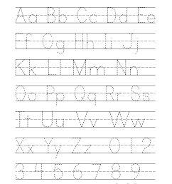 Free Printable Alphabet Handwriting Practice Sheets   Paper Trail Design [ 2562 x 1980 Pixel ]