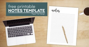 Free Printable Notes Template