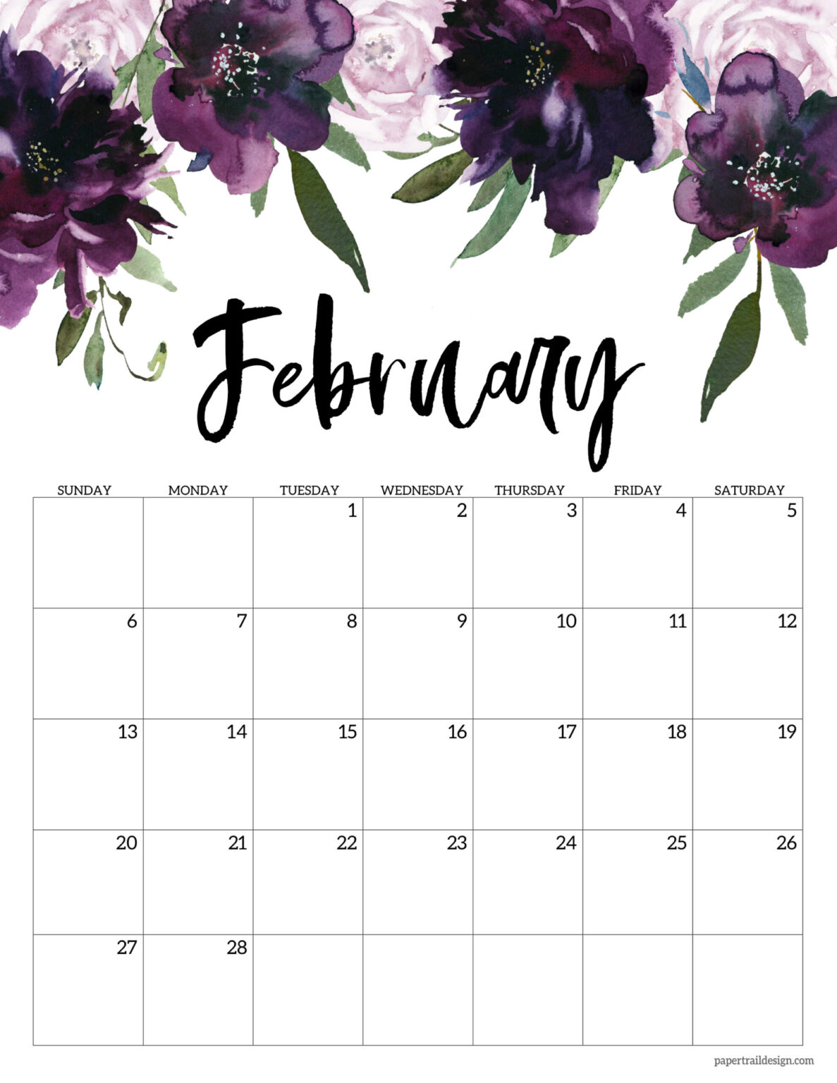 You can budget both your money and your time by making a. Free 2022 Calendar Printable - Floral | Paper Trail Design