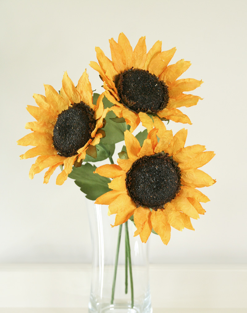 Paper Sunflower Bouquet Beautiful Paper Flowers Buy Online