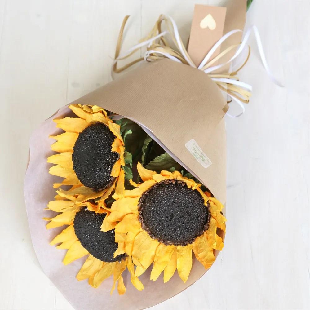 Paper Sunflower Bouquet Beautiful Paper Flowers Buy Online