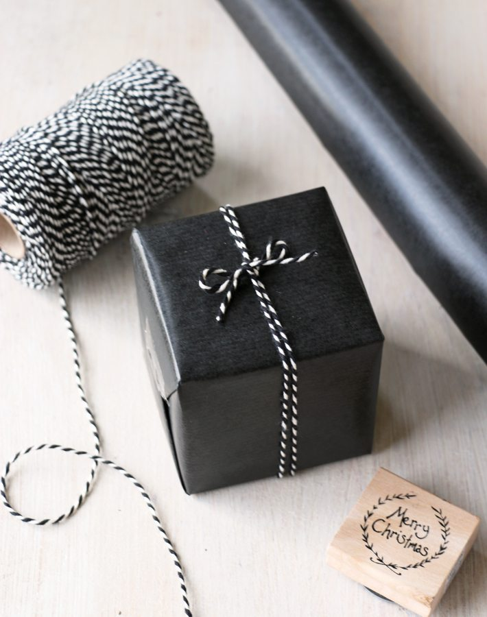 Black Wrapping Paper Rustic Contemporary Gift Wrap From