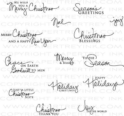 Signature Christmas Stamp Set: Papertrey Ink Clear Stamps