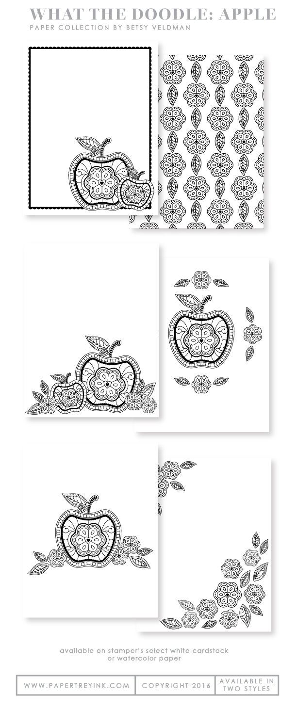 What the Doodle: Apple Coloring Sheets (18 sheets