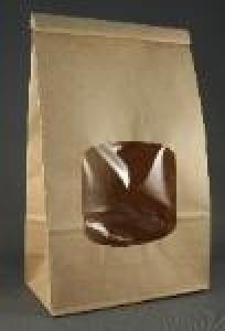 Large Kraft Window Coffee Bags 5 Per Package Papertrey