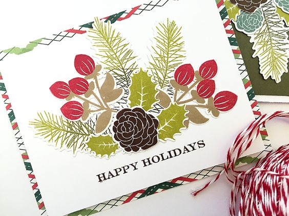 Holiday Greens Stamp Set Papertrey Ink Clear Stamps Dies