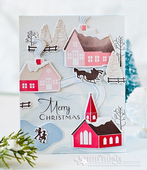 Papertrey Ink Winter Village Die Papertrey Ink Clear