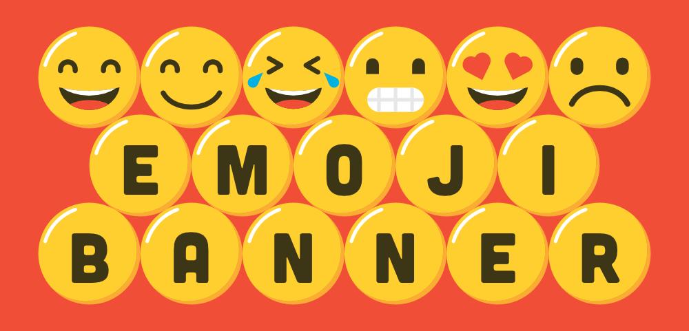 create an emoji banner print free