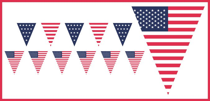 This is a graphic of United States Flag Printable for labeled