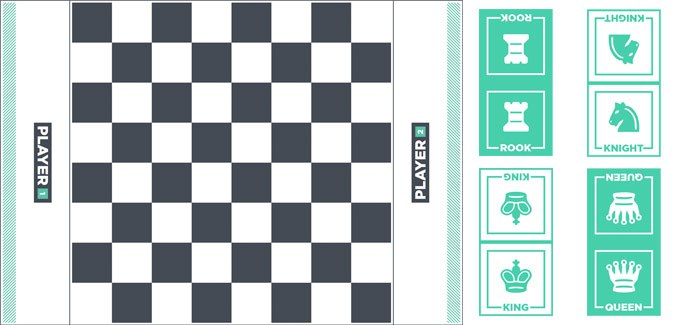 graphic relating to Chess Board Printable named Chess Mounted - Board and Parts - PAPERZIP