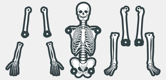 Intrepid image pertaining to printable skeleton template