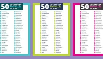 Imagenes De 50 New English Words