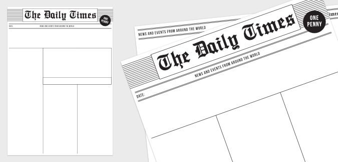 Old Newspaper Template  Paperzip