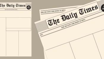 Blank Newspaper Templates