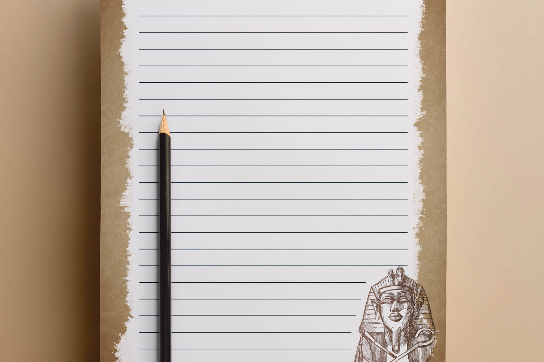 picture about Free Printable Writing Paper With Borders named Egyptian Producing Templates - PAPERZIP