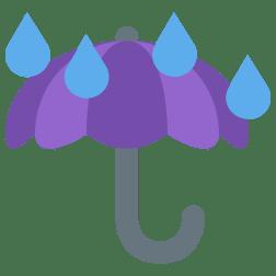 umbrella-with-rain-drops