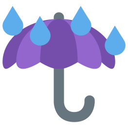 umbrella-with-rain-drops