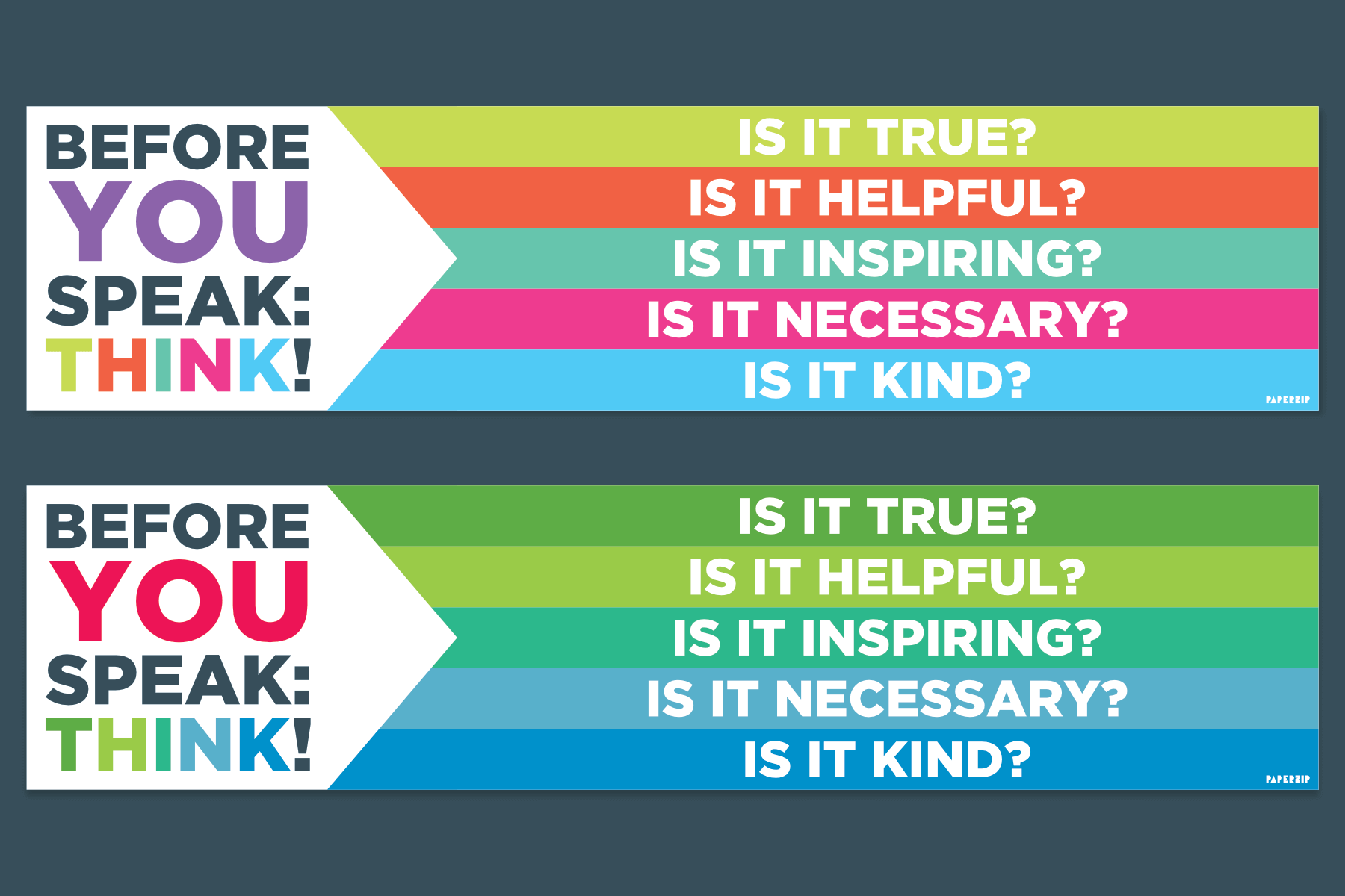 before you speak: think banner classroom schools free