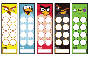 angry birds bookmarks free