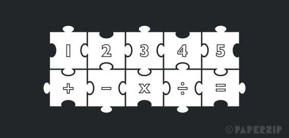 printable jigsaw numbers free