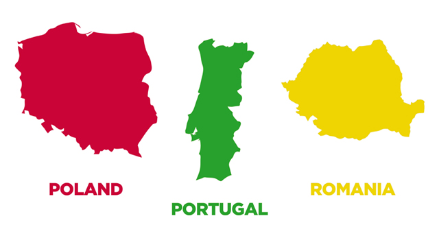 printable countries of europe shapes outlines areas