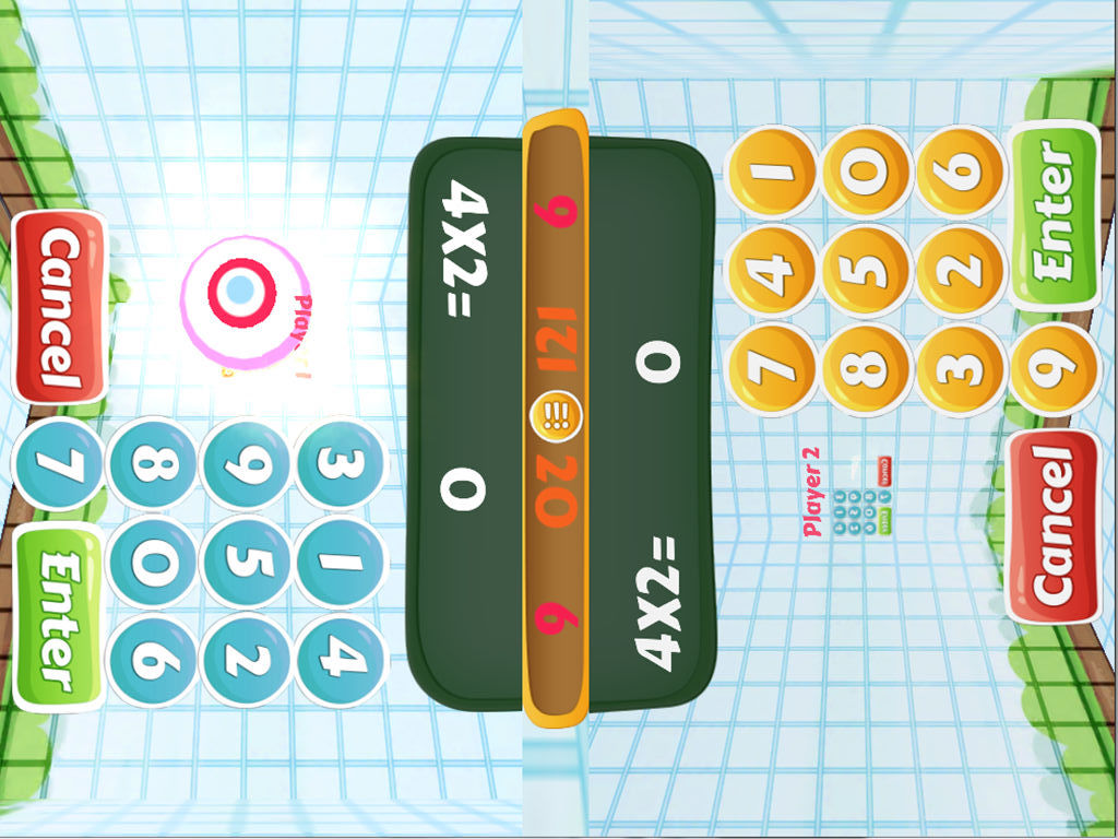 2 player maths app math party ipad