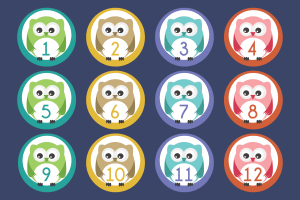 owl numbers 1-20