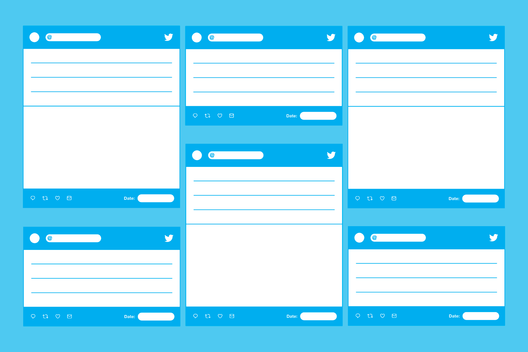 a twitter template for tweets