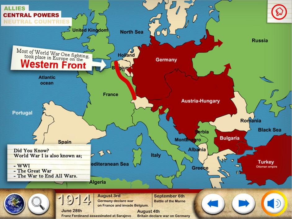 world war one app for children ipad
