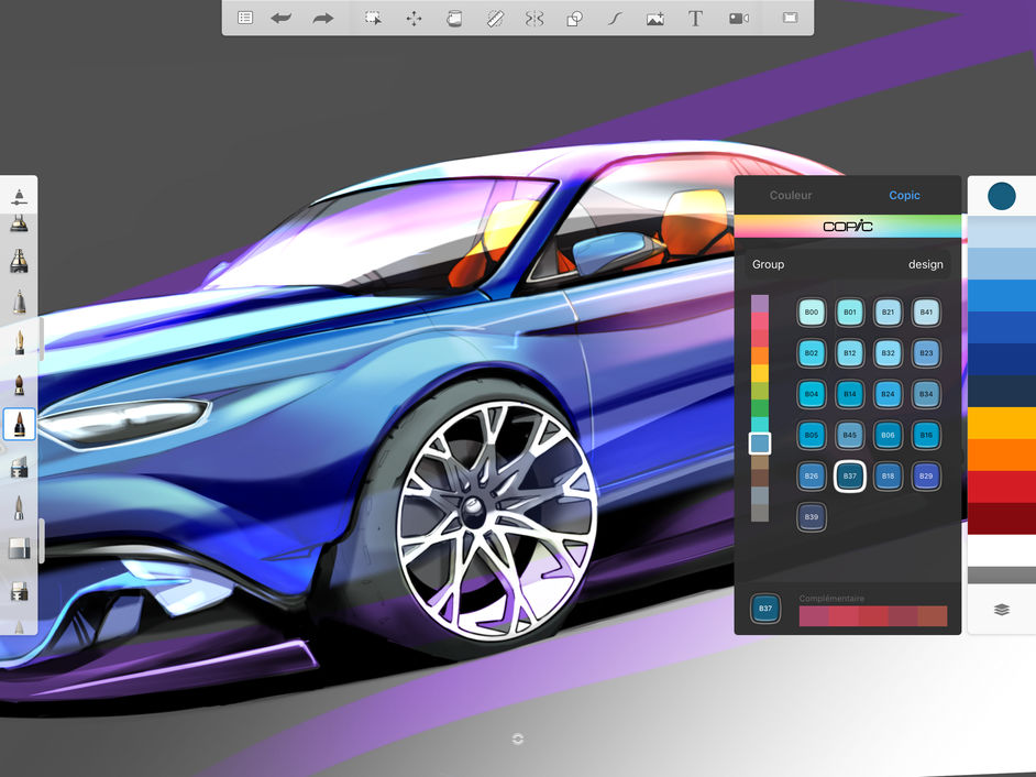 Autodesk SketchBook is a professional-grade painting and