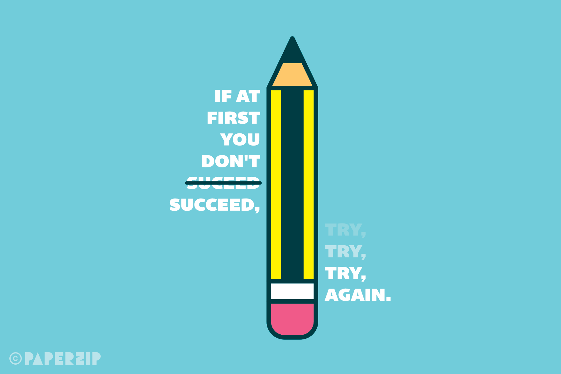 if at first you don't succeed, try, try again poster free classroom