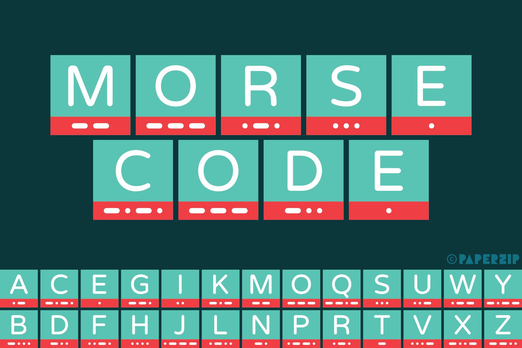 photo about Morse Code Printable titled Morse Code Alphabet - PAPERZIP