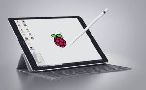 raspberry pi pixel on an ipad pro