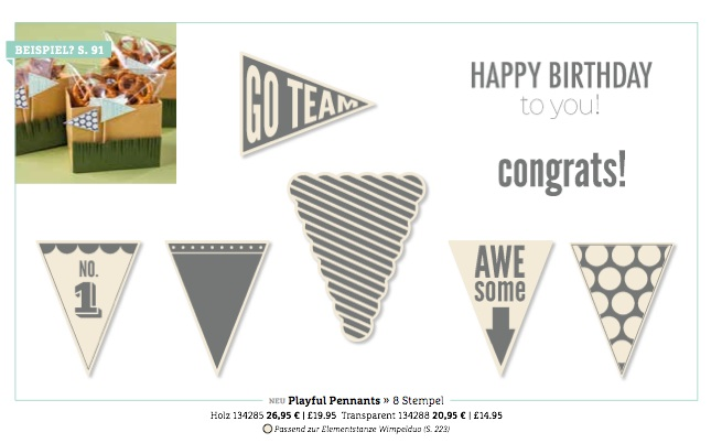 "Stampin'Up! Stempelset ""Playful Pennants"""