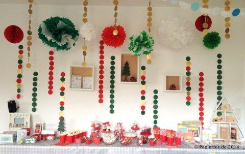 Candybar, Weihnachten, Pompoms, Girlanden, Stampin Up