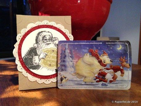 Adventskalender to go, Stampin Up, Smarties, Schokolinsen, Weihnachtsmann