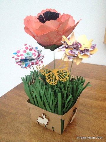 BigZ L Form Körbchen, Fransenschere, Frühling, Designerpapier Zarter Frühling, Tinlitsformen Schmetterling, BigZ L Form Bouquet