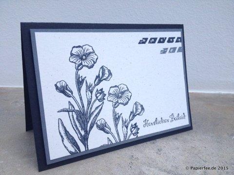 """Stampin'Up! Trauerkarte, Schmetterlingsgruß, Stanze """"Kleine Blüte"""","""
