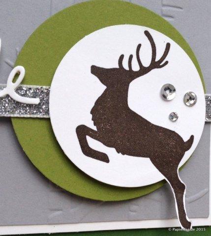 """Stampin'Up!, Advent, Weihnachtskarte, Gartengrün, Schiefergrau, Prägefolder """"Im Wald"""", Stempelset """"Wahre Weihnachtsfreude"""" , Thinlits Formen """"Weihnachtliche Worte"""""""