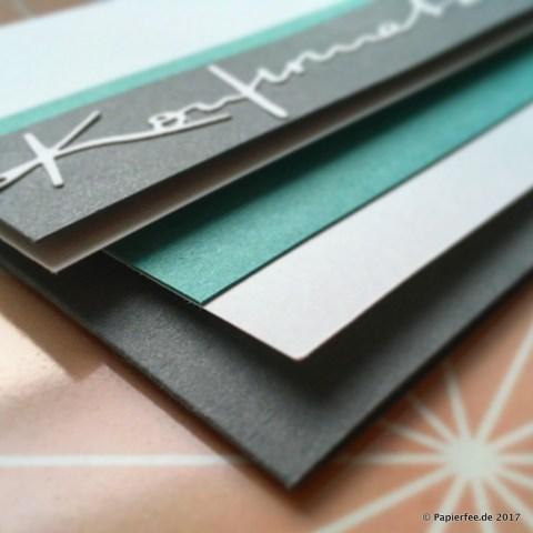 Moderne Einladung zur Konfirmation, Karten selber basteln, DIY Einladungskarten